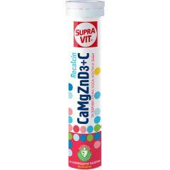 SupraVit Calcium Magnesium Zinc Vitamin D3 + Vitamin С За здрави кости, зъби, нокти, коса х20 ефервесцентни таблетки
