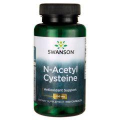 Swanson N-Acetyl Cysteine Н-Ацетил Цистеин 600 мг х 100 капсули