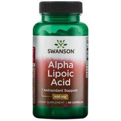 Swanson Alpha Lipoic Acid Алфа Липоева Киселина 600мг х60 капсули