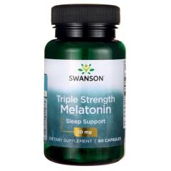 Swanson Triple Strength Melatonin Мелатонин тройно действие 10 мг х 60 капсули