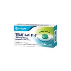 Темпалгин за главоболие и зъбобол 500 мг/ 20 мг х20 таблетки Sopharma