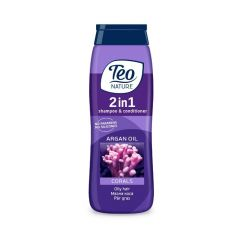 Teo Nature 2in1 Shampoo & Conditioner Corals with Argan oil Шампоан и балсам за мазна косас корали и арганово масло 400 мл