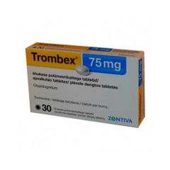 Тромбекс 75 мг х30 таблетки Zentiva