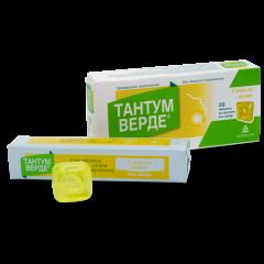 Тантум Верде с вкус на лимон при възпалено гърло и болки в устната кухина 3 мг x 20 таблетки Angelini