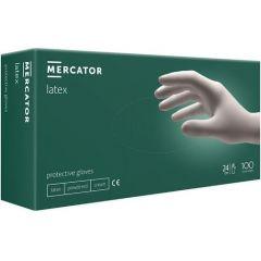 Латексови ръкавици с талк M x100 бр Mercator Medical