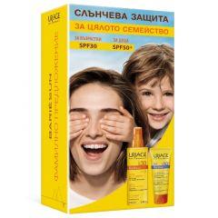 Uriage Bariesun Слънцезащитен спрей за лице и тяло за чувствителна кожа SPF30 200 мл + Uriage Bariesun Слънцезащитен лосион за деца SPF50+ 100 мл Комплект