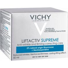 VichyLiftactivSupreme Крем против бръчки за суха кожа 50 мл
