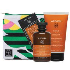Apivita Ревитализираща терапия за коса - шампоан 250 мл + балсам 150 мл + маска 20 мл + несесер Комплект