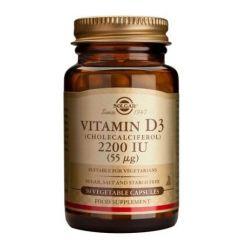 Solgar Vitamin D3 Витамин D3 за имунната система 2200IU 50 меки капсули