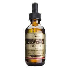 Solgar Vitamin D3 Liquid Витамин D3 течен за здрава костна система 2500IU х59 мл