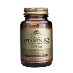 Solgar Vitamin K2 Витамин К2 за здрави кости 100 мкг х50 капсули