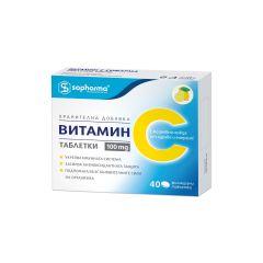 Витамин С 40 таблетки х100 мг 2 блистера Sopharma