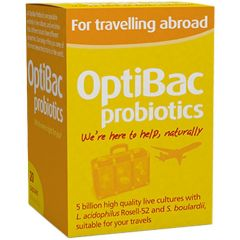 OptiBac Probiotics Travel Пробиотик при пътуване 20 капсули