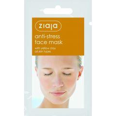 Ziaja Anti-Stress Face Mask Жая Анти-стрес маска за лице с жълта глина саше 7 мл