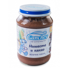 Ganchev Млечна каша с нишесте и какао 4М+ 190 гр