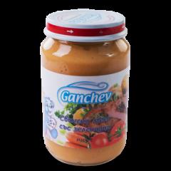 Ganchev Пюре свинско месо със зеленчуци 4М+ 190 гр