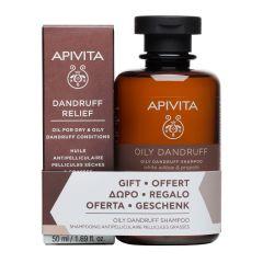 Apivita Dandruff Облекчаващо олио против пърхот 50 мл + Apivita Holistic Hair Care Шампоан за мазен пърхот 250 мл Комплект