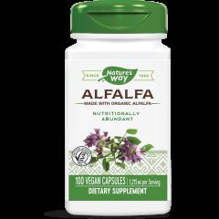 Nature's Way Alfalfa Люцерна при менопауза, ПМС и задържане на течности 405 мг х100 V капсули