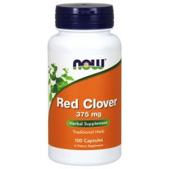 Now Foods Red Clover Червена Детелина 375 мг х 100 капсули