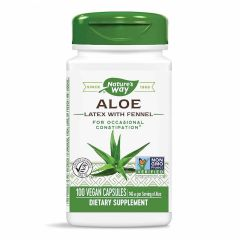 Nature's Way Aloe with Fennel Алое с копър за здрав стомашно-чревен тракт и имунна система 140 мг х100 капсули