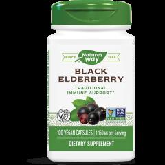 Nature's Way Black Elderberry Черен бъз за подкрепа на имунната система 575 мг х100 капсули
