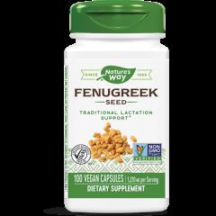 Nature's Way Fenugreek Seed Семена от сминдух за контрол върху кръвната захар и холестерола 610 мг х100 V капсули