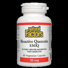 Natural Factors Bioactive Quercetin EMIQ Бионалична форма на антиоксидантен кверцетин 50 мг х 60 капсули