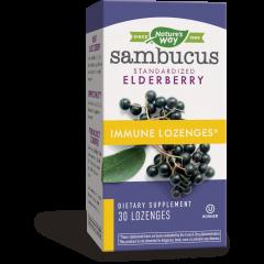 Nature's Way Sambucus Immune за имунната и дихателната системи х30 таблетки за смучене