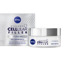Nivea Cellular Filler + Firming Стягащ дневен крем за лице SPF15 50 мл