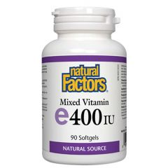 Natural Factors Mixed Vitamin E 400 IU Токофероли микс - естествена форма на витамин Е 268 мг х 90 капсули