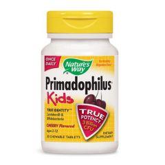 Nature's Way Primadophilus Kids Cherry Пробиотик за деца 3 млрд. активни пробиотици череша х30 дъвчащи таблетки