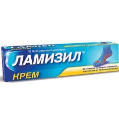 Ламизил Крем за лечение на кожни инфекции, причинени от гъбички (микози) 1% х30 грама GlaxoSmithKline