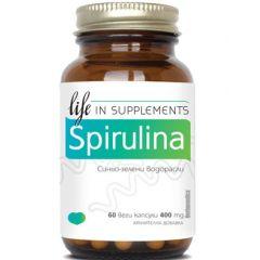 Herbamedica Spirulina Спирулина за имунната и сърдечно–съдовата система 400 мг х60 капсули