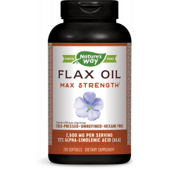 Nature's Way Flax Oil Max Strength Ленено масло 1300 мг х200 софтгел капсули
