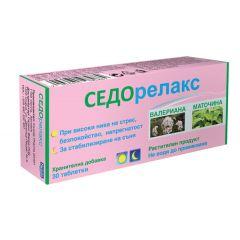 Седорелакс при безсъние, стрес и безпокойство х30 таблетки