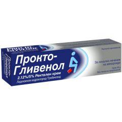 Прокто Гливенол Ректален Крем за локално лечение на хемороиди х30 грама GlaxoSmithKline