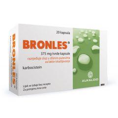 Бронлес с карбоцистеин за по-лесно отхрачване 375 мг х20 капсули Alkaloid