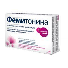Фемитонина успокоява симптомите на менопауза х30 таблетки Aflofarm