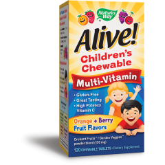 Nature's Way Alive Children's Chewable Multi-Vitamin Алайв мултивитамини за деца х120 дъвчащи таблетки
