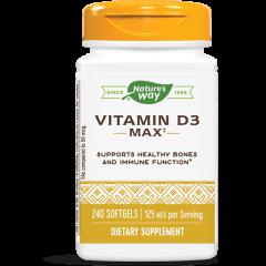 Nature's Way Vitamin D3 Max Витамин D3 за здрави кости и зъби 5000 IU х240 софтгел капсули