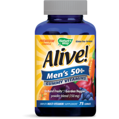 Nature's Way Alive Men's 50+ Алайв мултивитамини за мъже 50+  150 мг х75 желирани таблетки