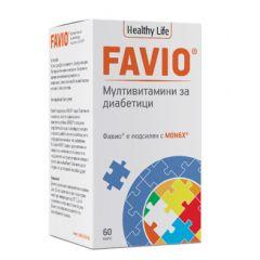 Healthy Life Favio мултивитамини за диабетици х60 таблетки
