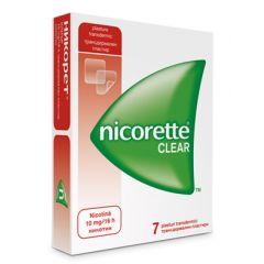 Nicorette Clear Никорет Клиър Пластири за отказване на цигарите 10 мг х7 бр McNeil