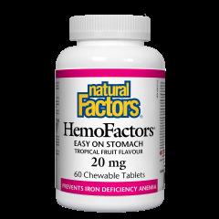 Natural Factors HemoFactors желязо биоактивна форма 20 мг х 60 таблетки