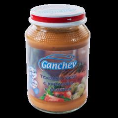 Ganchev Пюре телешко месо с картофи и домати 4М+ 190 гр