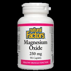 Natural Factors Magnesium Oxide за поддържане на мускулната функция 250 мг х 90 каплети