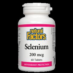 Natural Factors Selenium Селен антиоксидант 200 мкг х 60 таблетки