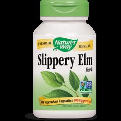 Nature's Way Slippery Elm Bark Кора от червен бряст при стомашно-чревни заболявания 400 мг х100 V капсули