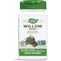 Nature's Way Willow Bark Кора от бяла върба природно средство при болка 400 мг х100 V капсули