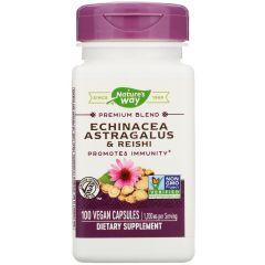Nature's Way Echinacea Astragalus/ Reishi имуностимулатор и адаптоген х100 V капсули